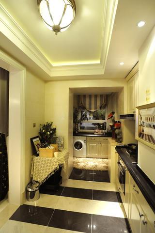 大户型欧式装修阳台洗衣区