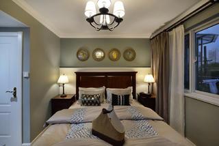 90平美式装修床头背景墙图片