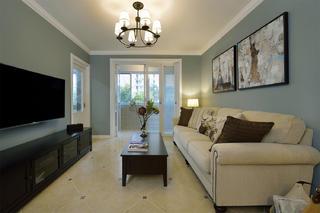 90平美式装修客厅设计图