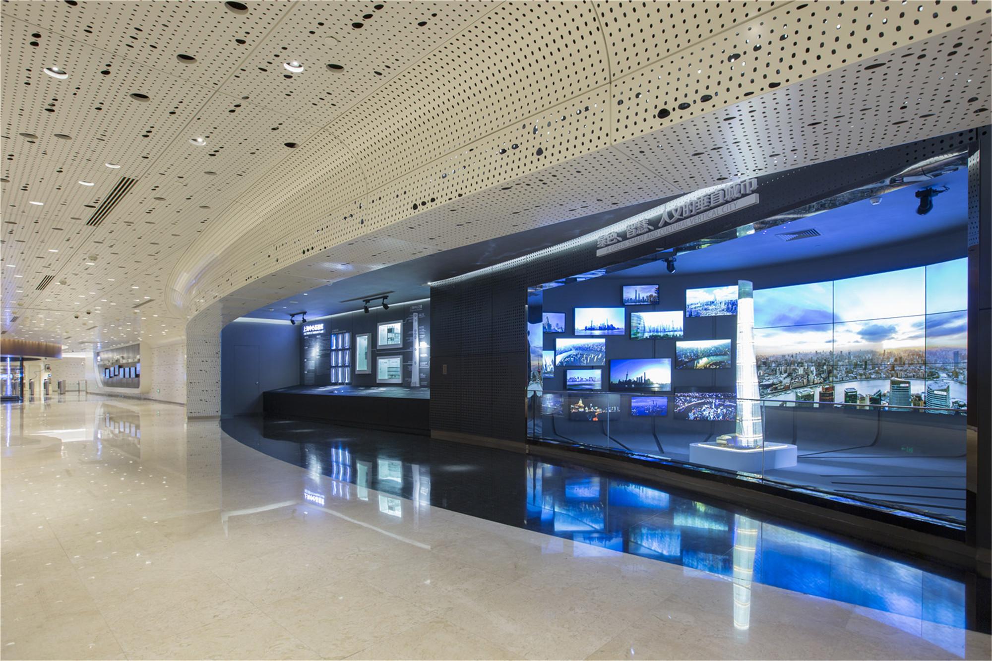 上海中心观光展示厅布置图