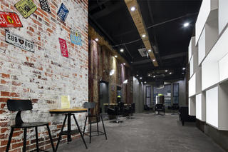 极简美发造型室装修二楼整体效果图