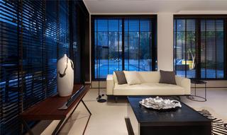 简约中式别墅装修玻璃百叶窗设计