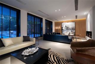 简约中式别墅装修客厅设计图