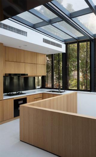 简约中式别墅装修厨房布局图