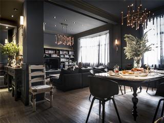 混搭公寓装修餐桌椅图片