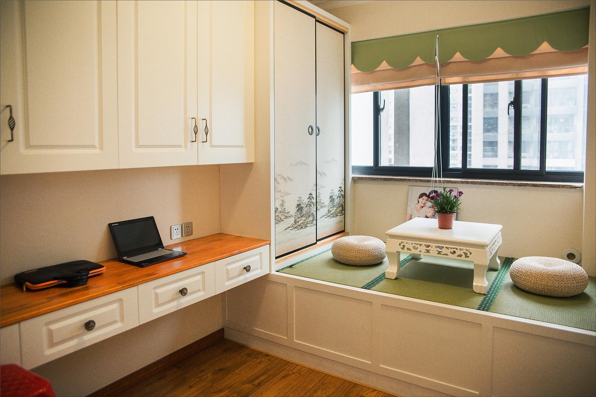 118平简欧三居装修榻榻米茶室设计