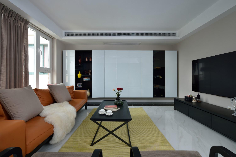 现代简约复式装修客厅设计图