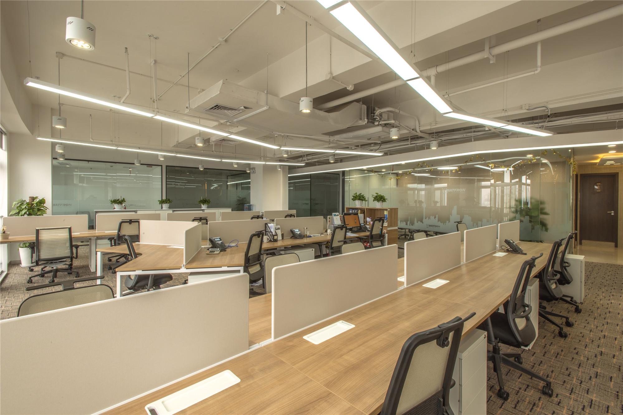 简约风办公室装修公共办公区效果图