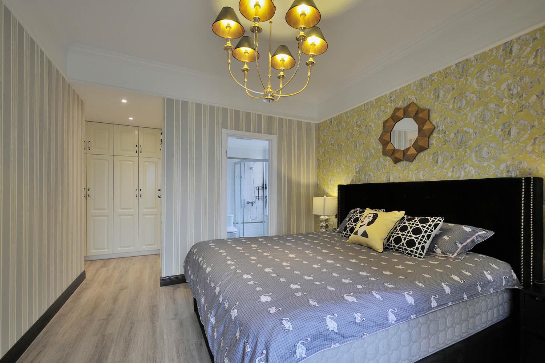 100㎡摩登时尚家卧室背景墙图片