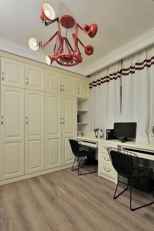 100㎡摩登时尚家卧室工作区