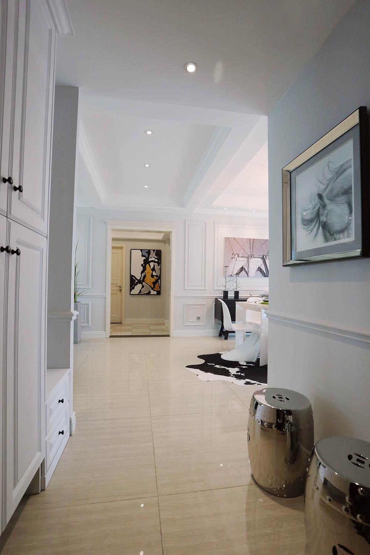 三居室摩登美式家门厅过道