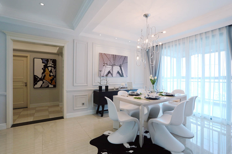 三居室摩登美式家餐厅设计图