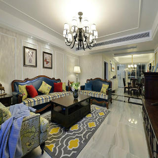 三居室美式装修设计 朴实祥和