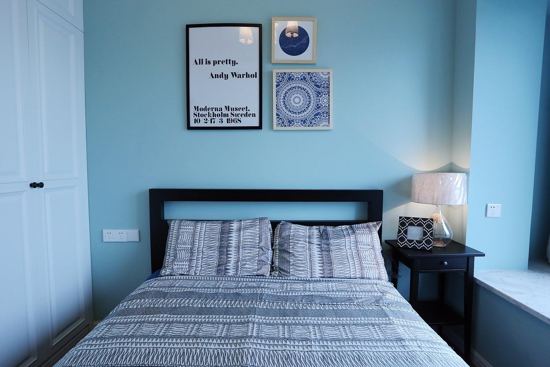 60平美式混搭装修卧室设计图