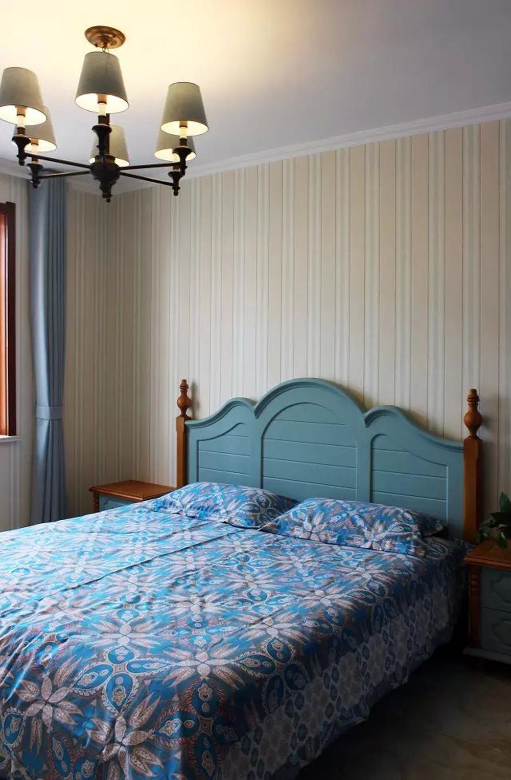 135平现代风格装修卧室布置图