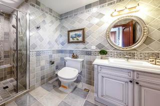 地中海风格别墅装修卫生间设计图