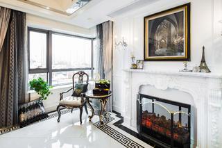 新古典混搭二居装修客厅休闲一角