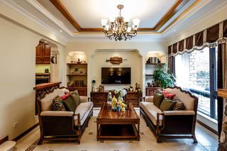 地中海风格别墅装修客厅设计图