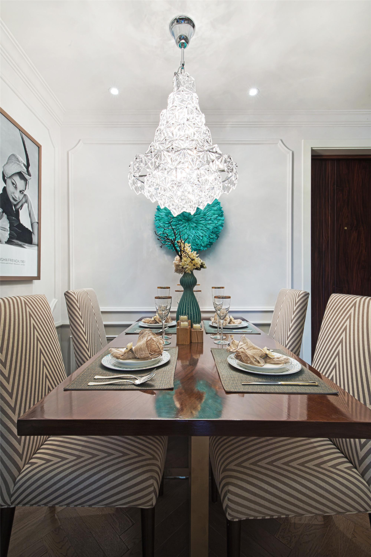 80平现代美式装修餐厅效果图