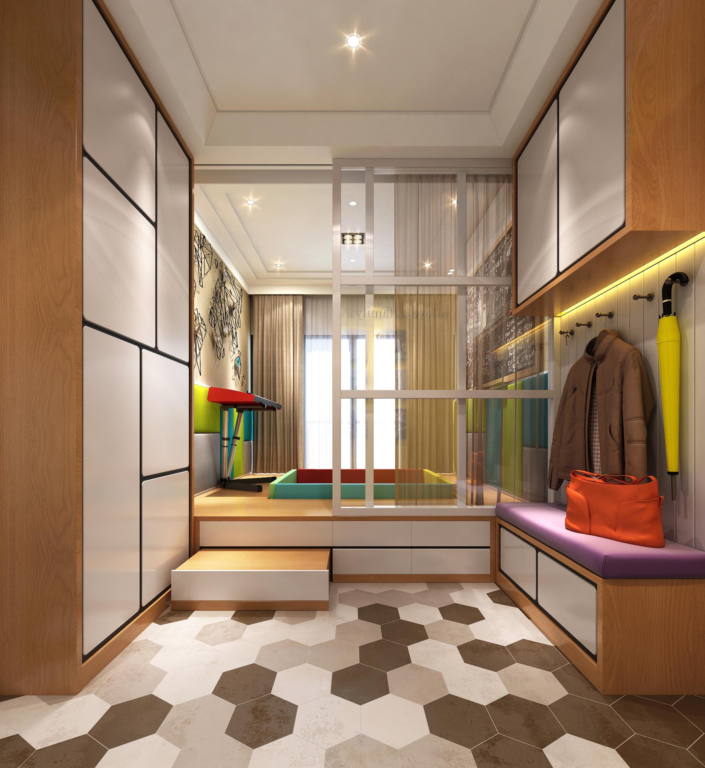 现代简约装修玄关设计