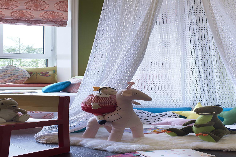 90平混搭风装修儿童房细节图