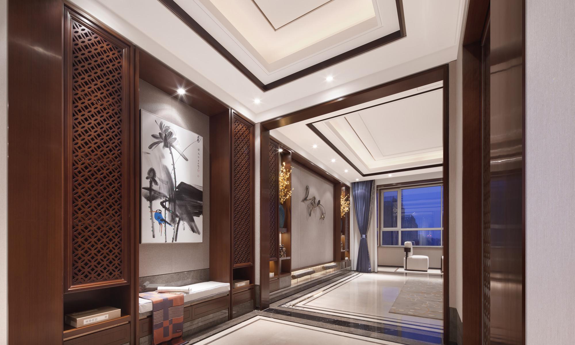 160平中式装修玄关设计