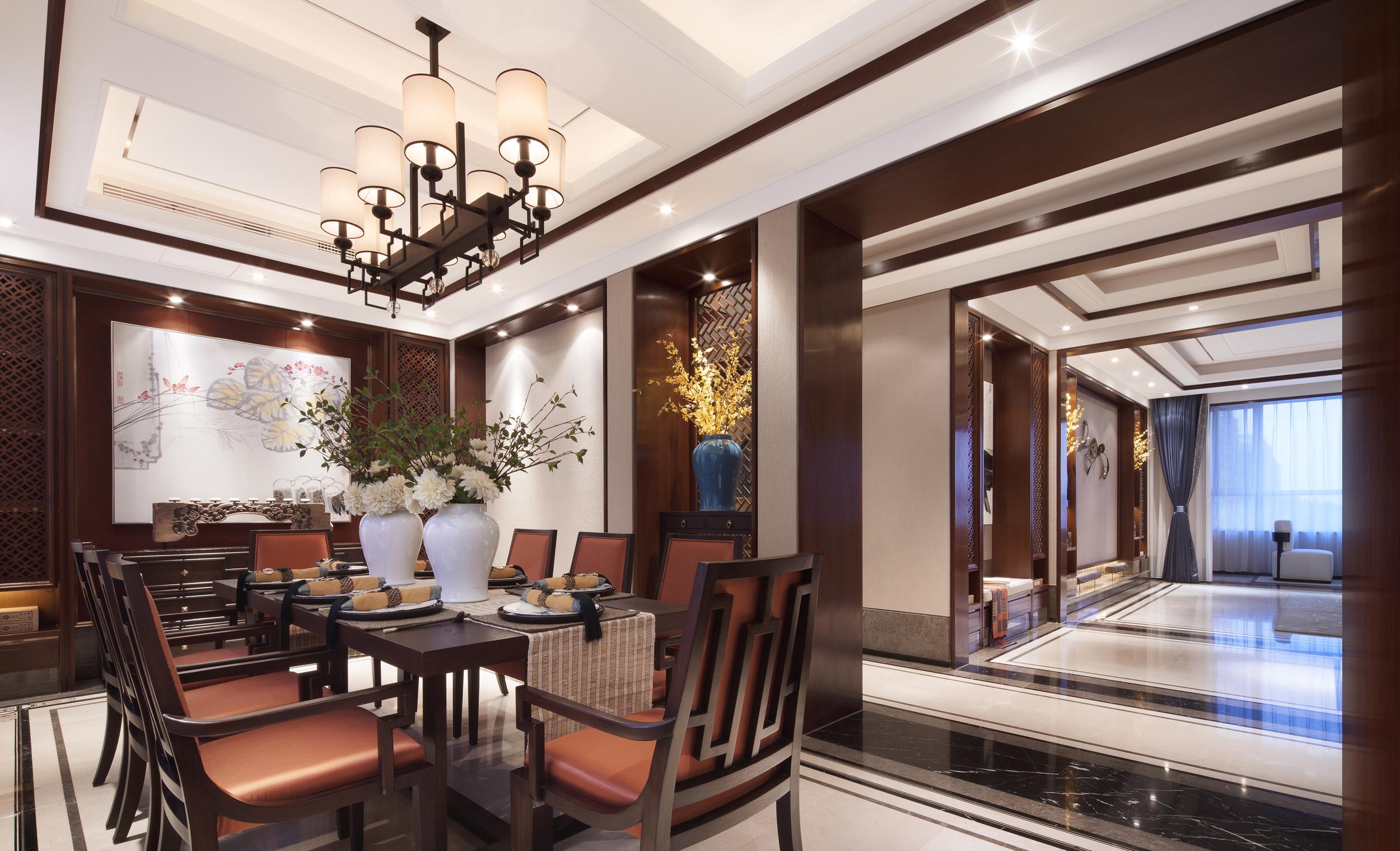 160平中式装修餐厅效果图