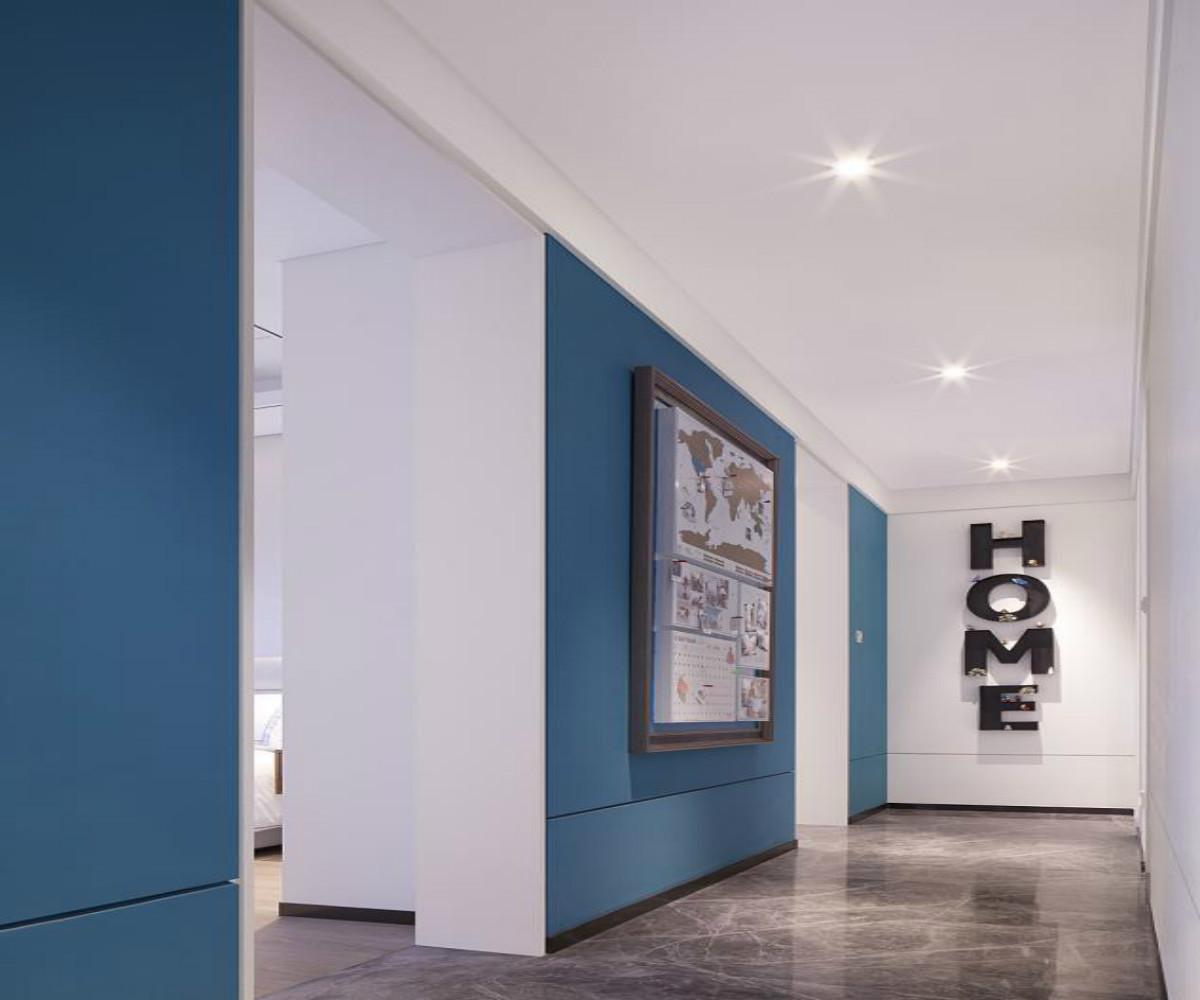 现代简约风格三居门厅过道