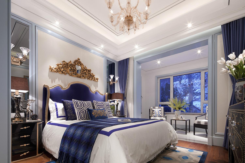 法式三居装修卧室设计图