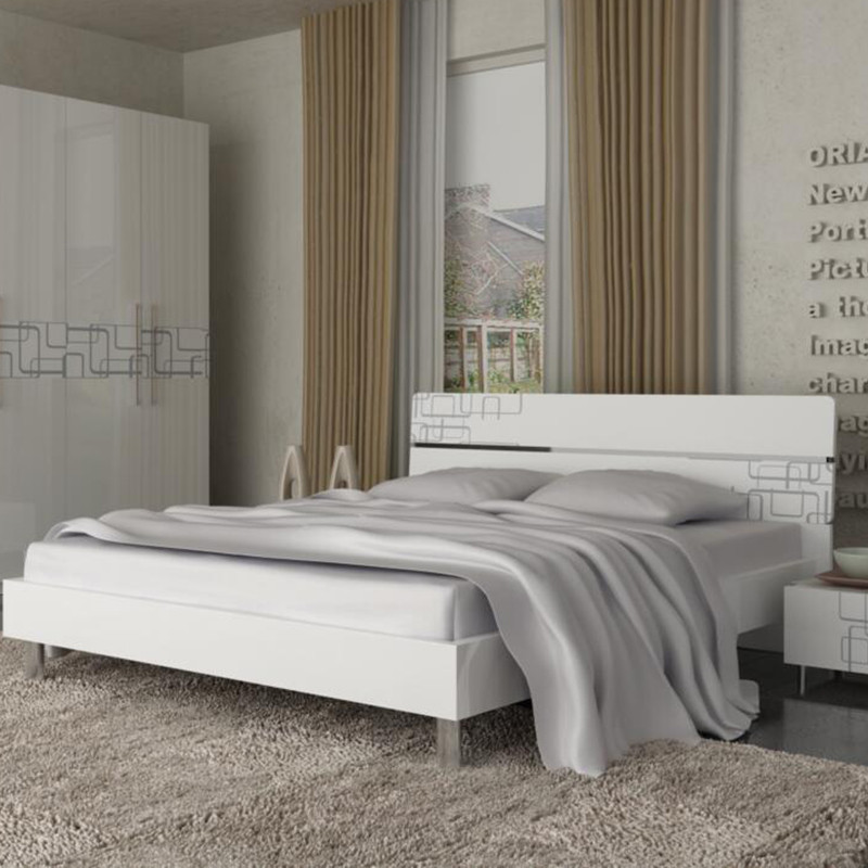 欧瑞家具 现代简约床1.8m+排骨架