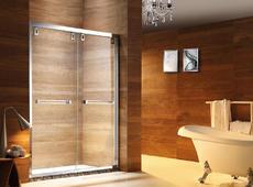 【不锈钢】德卫淋浴房  DM-1602一字型 两移门