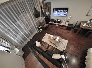 小户型公寓装修客厅俯瞰图