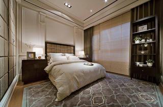 130平现代简欧样板房客卧设计图