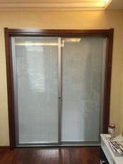 隔断中空门内置百叶玻璃移门