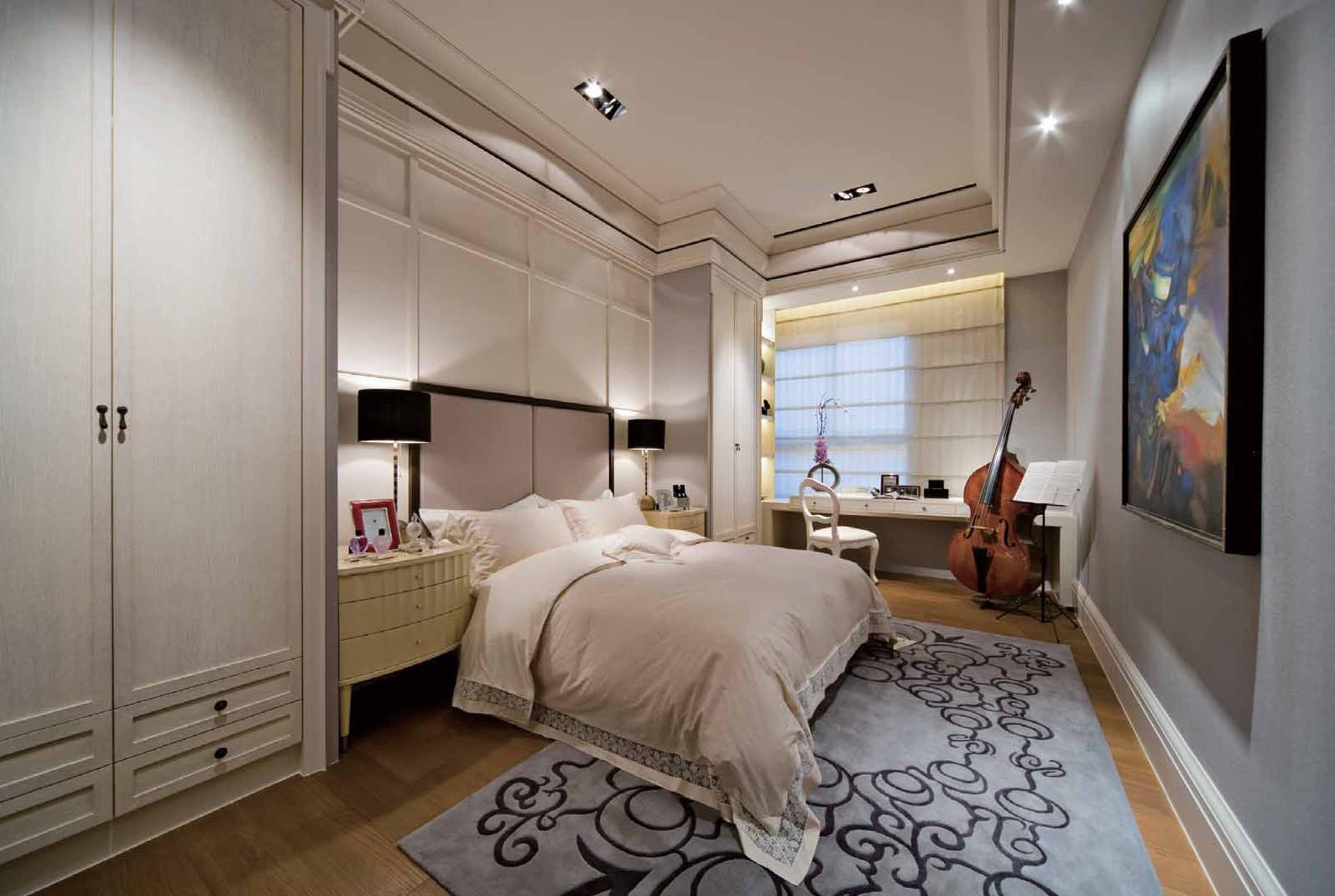 130平现代简欧样板房卧室搭配图