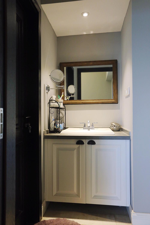120平现代美式装修洗手台图片
