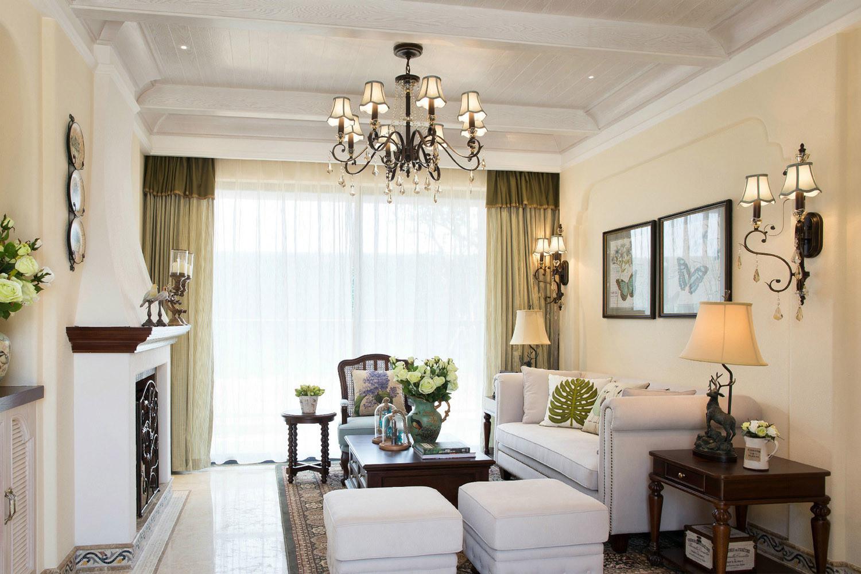 美式地中海混搭客厅设计图