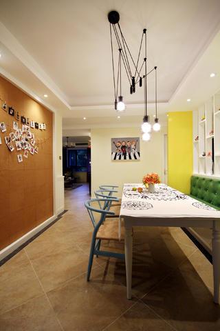 135平混搭风之家餐厅设计图