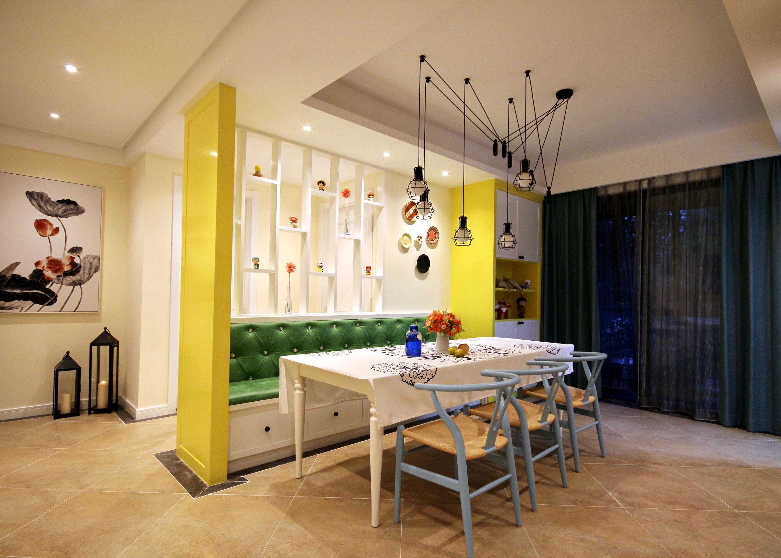 135平混搭风之家餐厅背景墙图片
