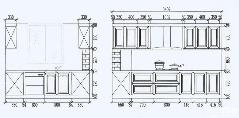 厨房立面图纸1.