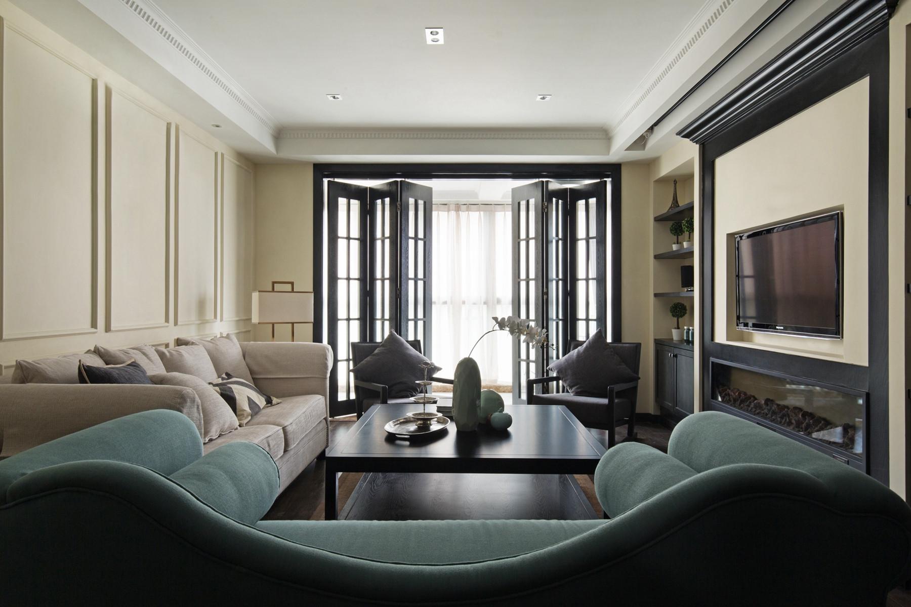 105平现代英伦风格家折叠门设计