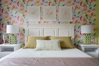 别墅混搭装修床头背景墙图片