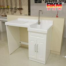 贝克玛卫浴 整体阳台洗衣柜 BKM-S201-110 实木烤漆柜体