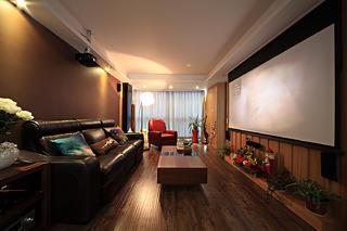现代复式装修沙发背景墙图片