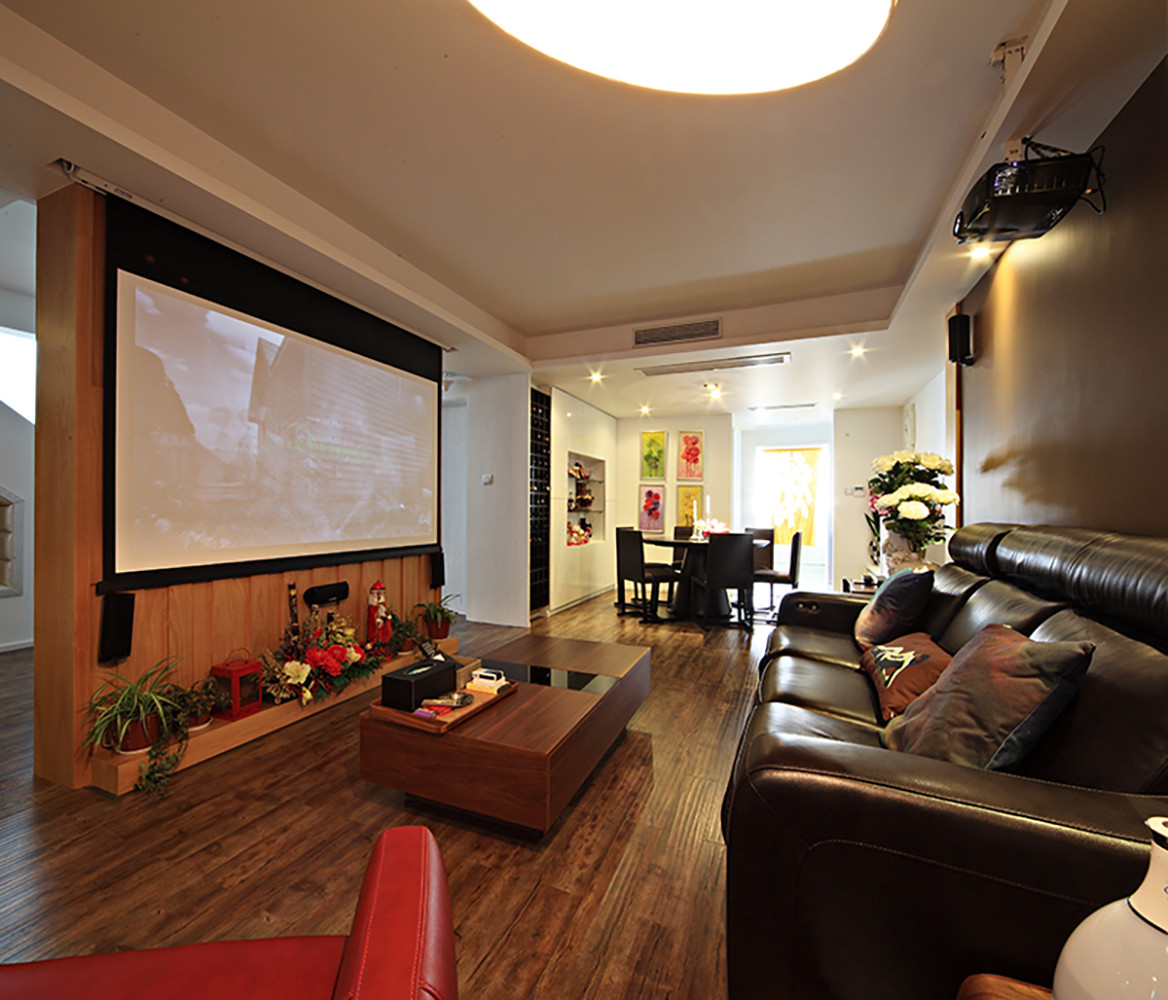 现代复式装修客厅设计图
