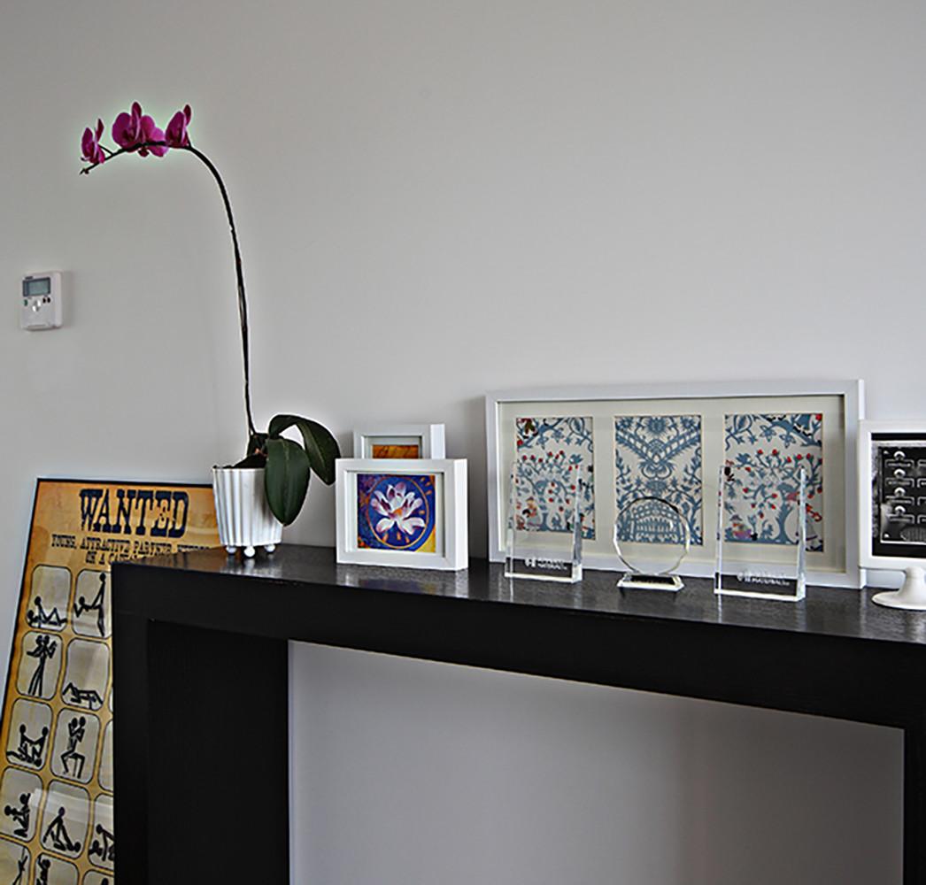 现代复式装修装饰摆件图片