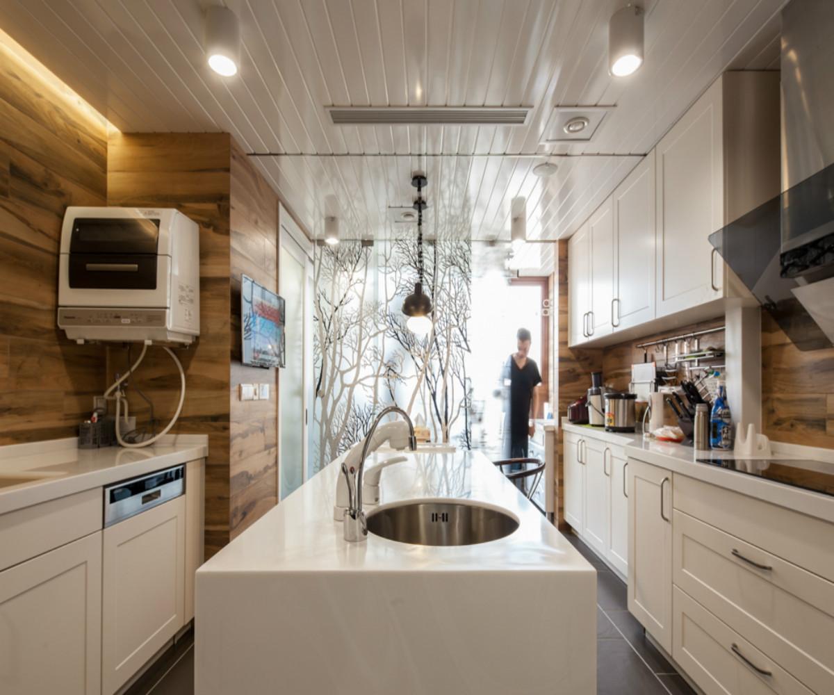 中式风三居装修厨房设计图
