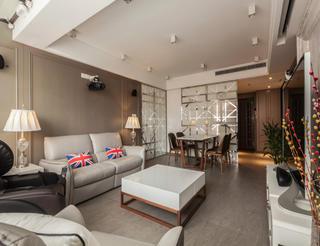 复式现代风格装修客厅效果图