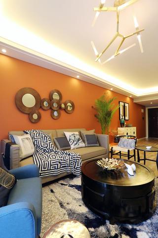 100平新中式设计沙发图片