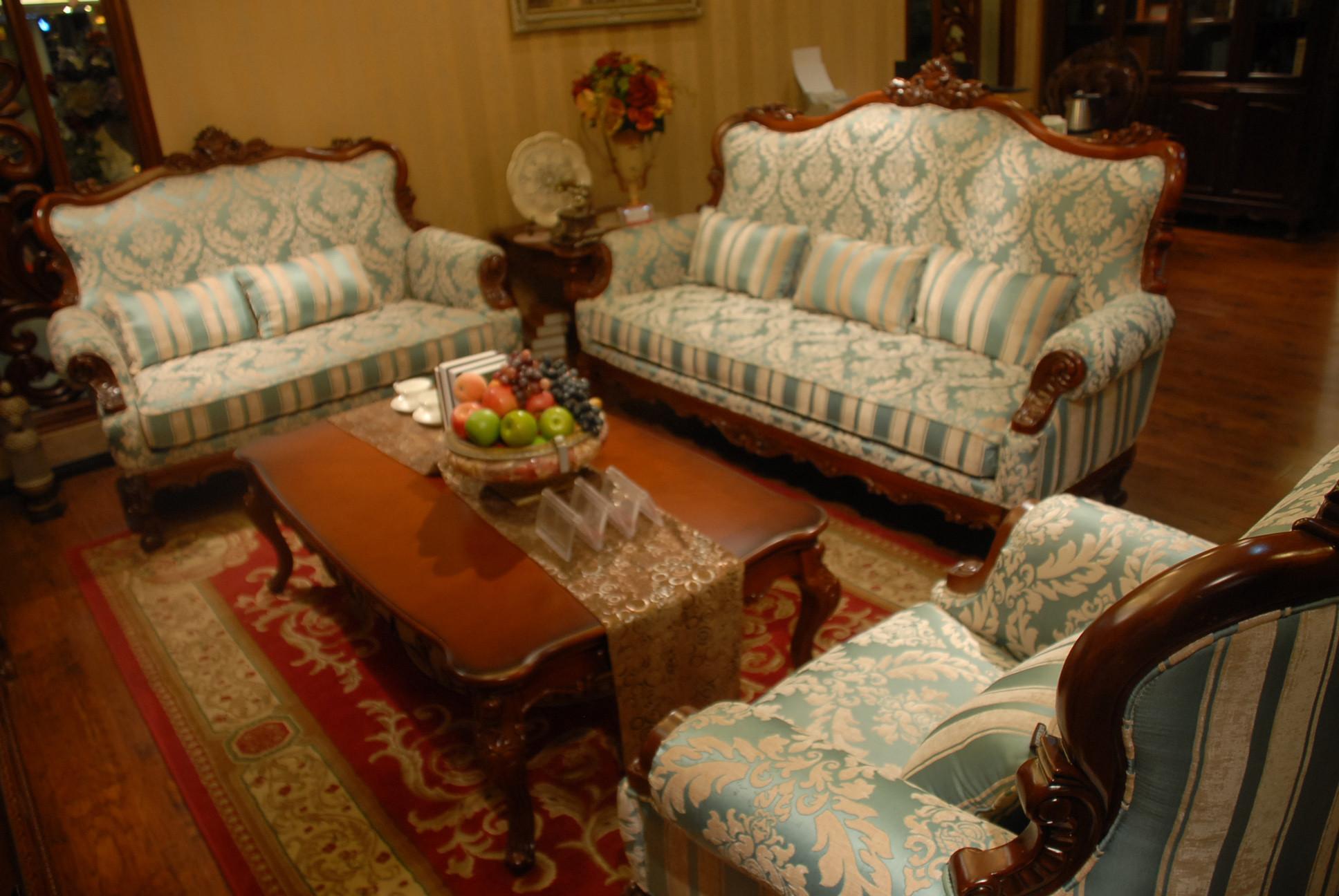 3303桃花芯全实木框架 布艺沙发  1+2+3